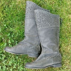 Black Leather Corral Cowboy boots